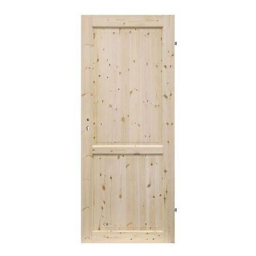 Drzwi pełne Radex Lugano 90 prawe sosna surowa, LUGANO.PN.90P