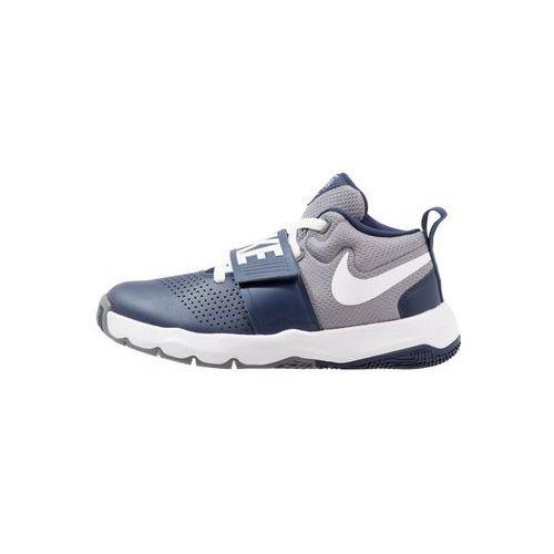 Nike Performance TEAM HUSTLE D 8 Obuwie do koszykówki midnight navy/white/cool grey, kolor niebieski