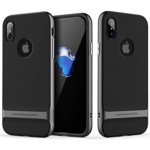 Etui ROCK Royce do Apple iPhone X Szary, kolor szary