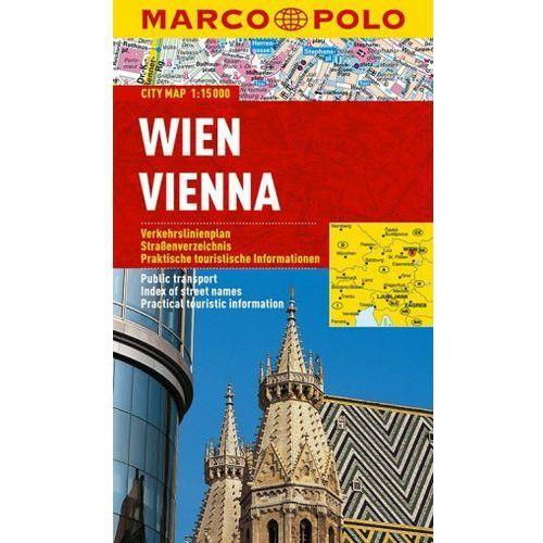 Wiedeń / Vien 1:15 000. Laminowany plan miasta. Marco Polo, oprawa miękka