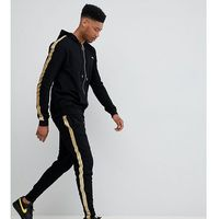 Sixth June skinny joggers in black with gold side stripe exclusive to ASOS - Black, kolor czarny