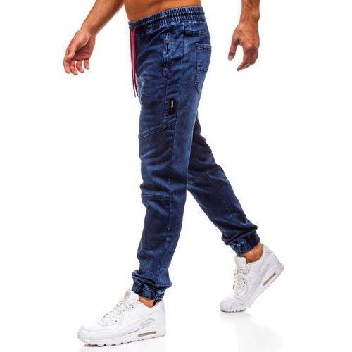 Spodnie jeansowe joggery męskie granatowe Denley Y267, jeansy