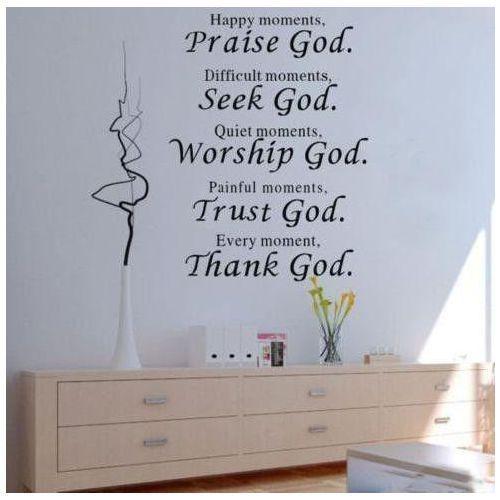 Giftworld Naklejka dekoracyjna na ściane praise god - outlet