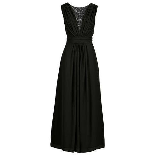 Długa sukienka czarny marki Bonprix