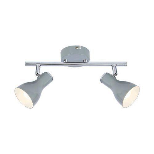 Candellux Listwa julie 92-66626 lampa sufitowa spot 2x40w e14 szara (5906714866626)
