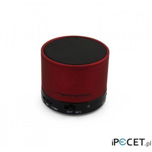 Głośnik bluetooth Esperanza Ritmo Czerwony EP115C (5901299909201)