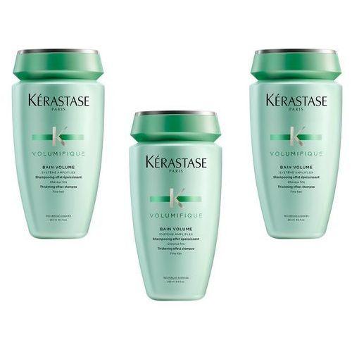 Kerastase volumifique bain | zestaw: 3x kąpiel nadająca objętość włosom cienkim 250ml