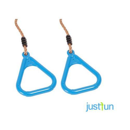 Obręcze plastikowe trójkątne - błękitny