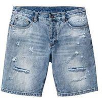 "Bermudy dżinsowe bonprix niebieski ""bleached used, jeans"