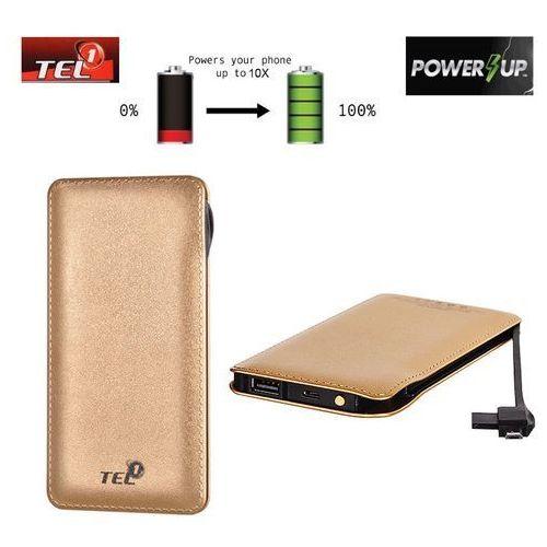Bateria Zewnętrzna Power Bank Tel1 Slim 12000mAh Złoty