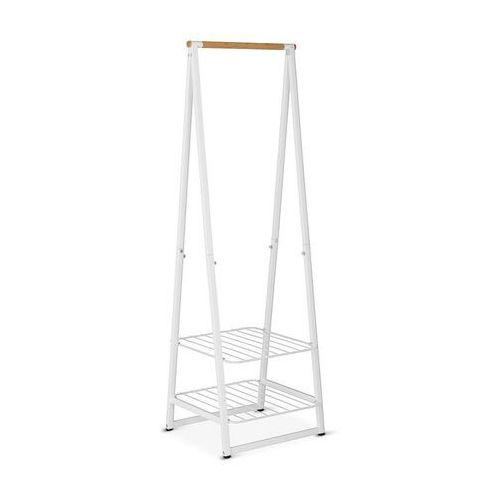 Brabantia - wieszak na ubrania z półkami, 60,00 cm, biały - biały (8710755118227)