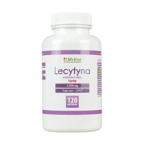 Lecytyna sojowa forte NON-GMO lecithin 1200 mg 120 kapsułek MyVita (5906395684748)