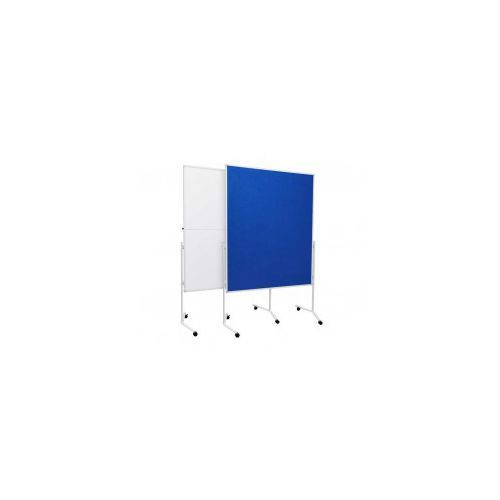 Tablica moderacyjna suchościeralna lakierowana 120x150 składana na kółkach marki Allboards