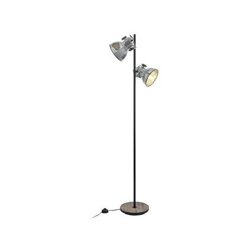 Lampa stojąca Eglo Barnstaple 49722 podłogowa 2x40W E27 czarna / brązowa patyna, 49722