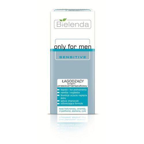 Bielenda only for men sensitive krem kojący przeciw zmarszczkom (hyaluronic acid, ceramides, d-panthenol, alantoin, zinc) 50 ml (5902169012366)