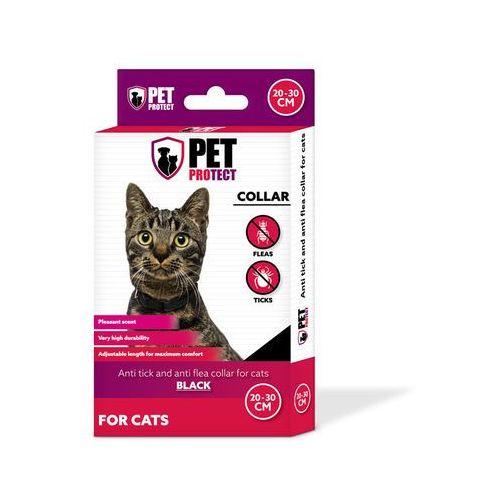 Petprotect - obroża odstraszająca insekty dla kota kolor: czarny 30cm (5901688713631)