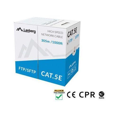 KABEL LAN SFTP KAT-5E 305M DRUT CU SZARY CPR+ FLUKE PASSED LANBERG (5901969424584)