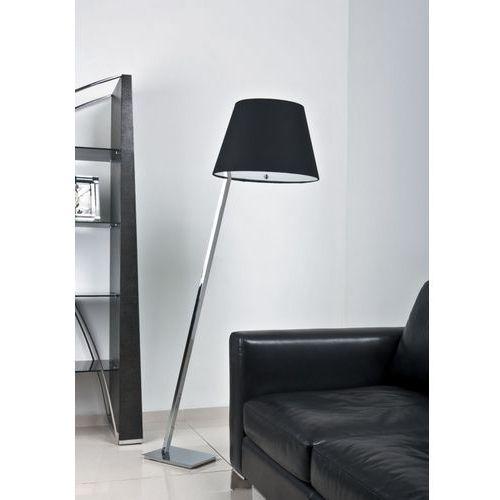 Lampa podłogowa orlando chrom z czarnym abażurem, 5103f/bl marki Maxlight