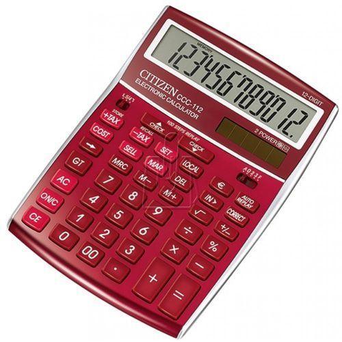 Citizen Kalkulator ccc-112rd burgundowy - gwarancja bezpiecznych zakupów - autoryzowany dystrybutor citizen (4562195132868)