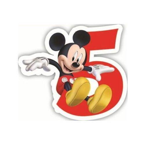 """Świeczka cyferka piątka """"5"""" Myszka Mickey - 1 szt."""