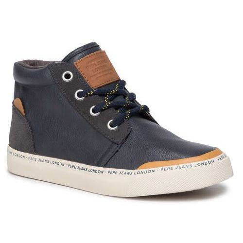 Pepe jeans Sneakersy - traveler bootie pbs30409 navy 595