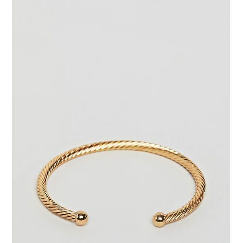 Designb london twisted gold cuff bracelet - gold
