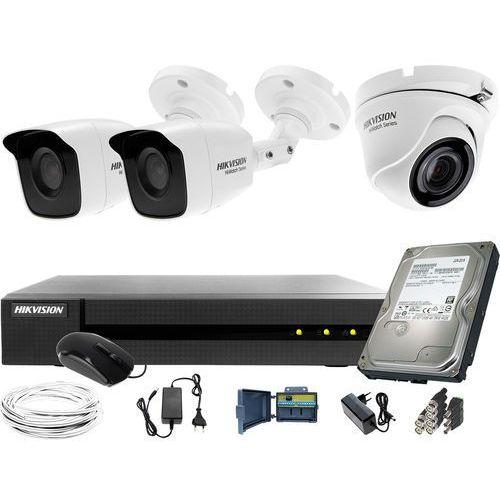 Hikvision hiwatch 2x hwt-b120-m 1x hwt-t120-m zestaw monitoringu hwd-6104mh-g2 dysk twardy 1tb akcesoria