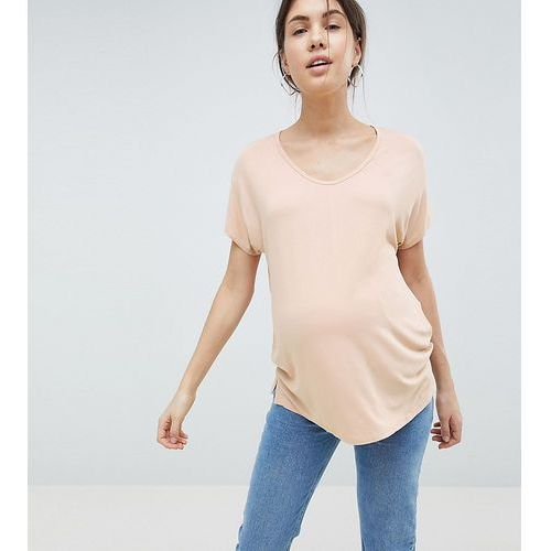 Asos maternity Asos design maternity t-shirt with drapey batwing sleeve in pink - pink