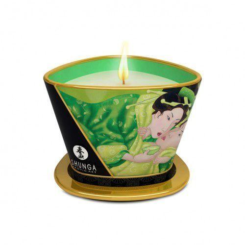 Świeca do masażu - Shunga Massage Candle Green Tea 170 ml Zielona Herbata