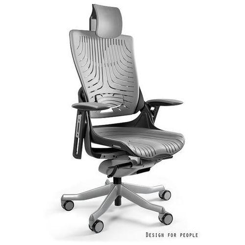 Fotel ergonomiczny czarny WAU 2 Elastomer - Szary- ZADZWOŃ 692 474 000 - OTRZYMASZ RABAT!, Unique