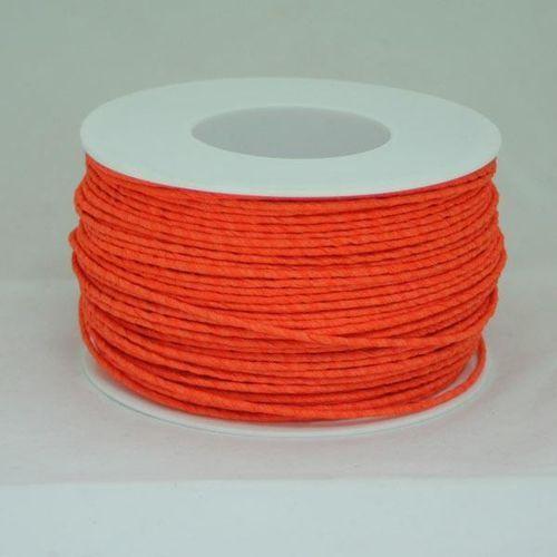 Ozdobny sznurek papierowy z drutem - pomarańczowy - POM