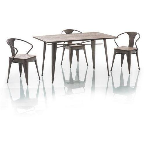 Stół drewniany SIGNAL ALMIR LOFT 140x84