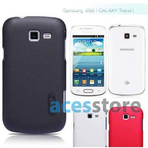 Etui Nillkin Frosted Shield Samsung Galaxy Trend i699 Czarny - Czarny, kolor czarny