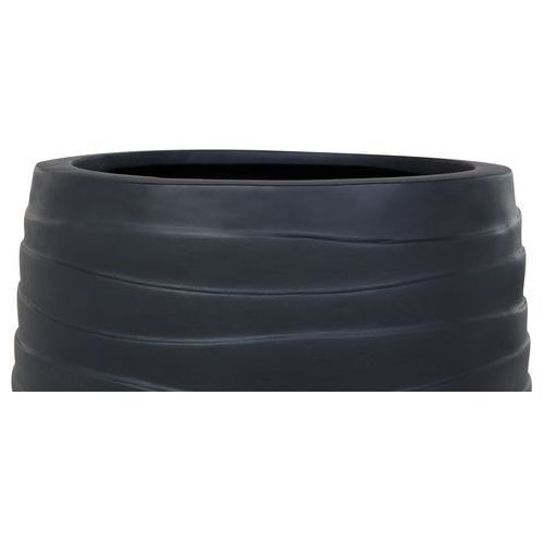 Doniczka czarna - ogrodowa - balkonowa - ozdobna - 35x35x36 cm - LOMOND (4260580922864)