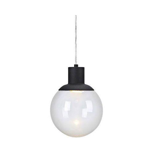 LAMPA wisząca LAND 106593 Markslojd szklana OPRAWA zwis kula ball czarna przezroczysta, 106593