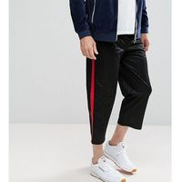Reclaimed Vintage Inspired Relaxed Trousers With Taping - Black