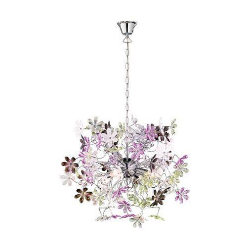 rl flower r10014017 lampa wisząca zwis 4x40w e14 chrom / wielokolorowy marki Trio
