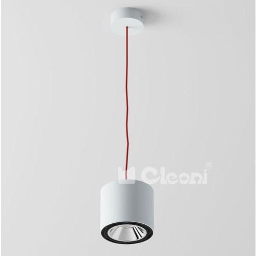 """Lampa wisząca tito 1xgu10 z czarno-białym przewodem (""""żelazko""""), t113b7j1+ marki Cleoni"""