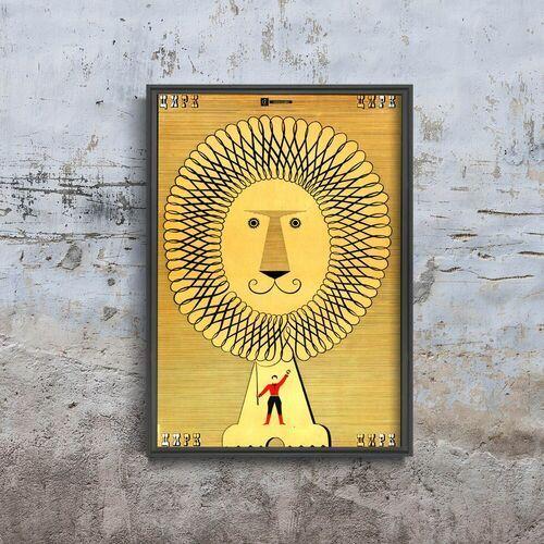 Vintageposteria.pl Plakat vintage do salonu plakat vintage do salonu radziecki nadruk lwa cyrkowego