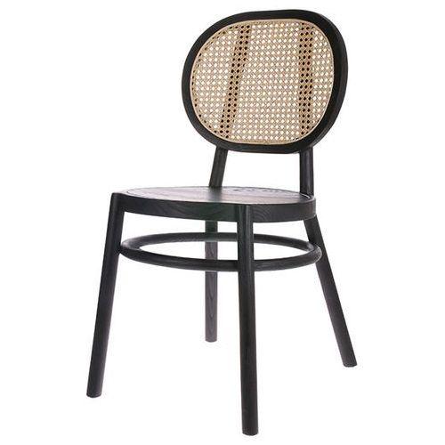 HK Living Krzesło Retro czarne MSK3709