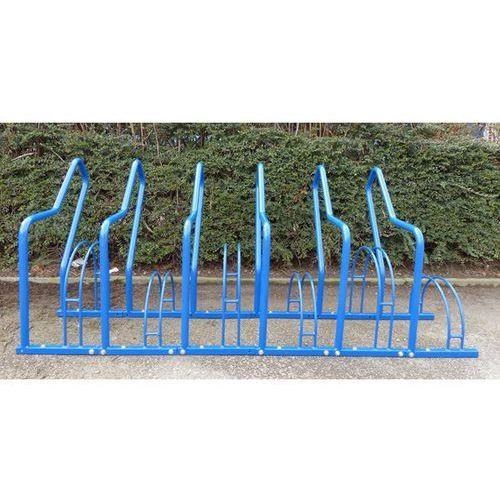 Stojak rowerowy z pałąkami wsporczymi, 6 miejsc ustawienia, lakierowanie na kolo