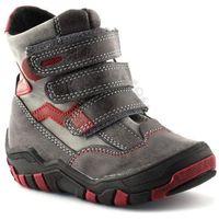 Buty zimowe dla dzieci marki Kornecki 04997 - Czerwony ||Grafitowy