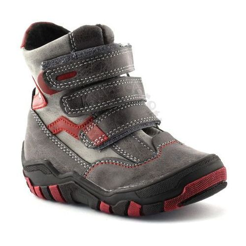 Kornecki Buty zimowe dla dzieci marki  04997 - czerwony ||grafitowy