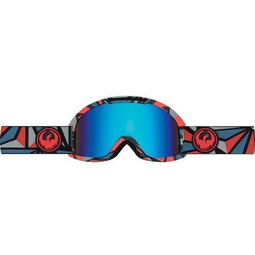 Dragon Gogle snowboardowe  - dx2 - structure/blue steel + yellow red ion (945)