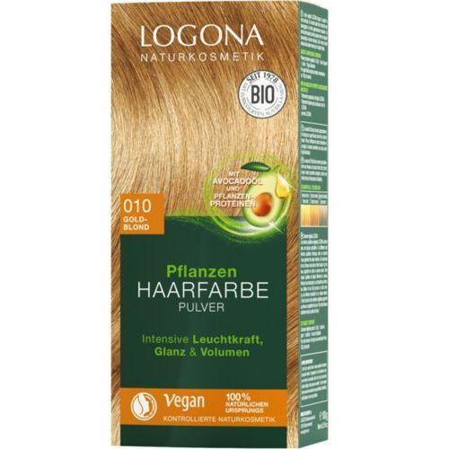 Roślinna farba do włosów w proszku 010 GOLDBLOND (złocisty blond), kolor blond