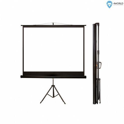 Ekran projekcyjny matt white na statywie 145 x 110 cm marki 4world
