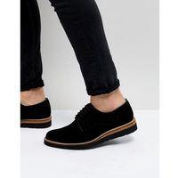 Dead vintage suede cork brogue shoes - black