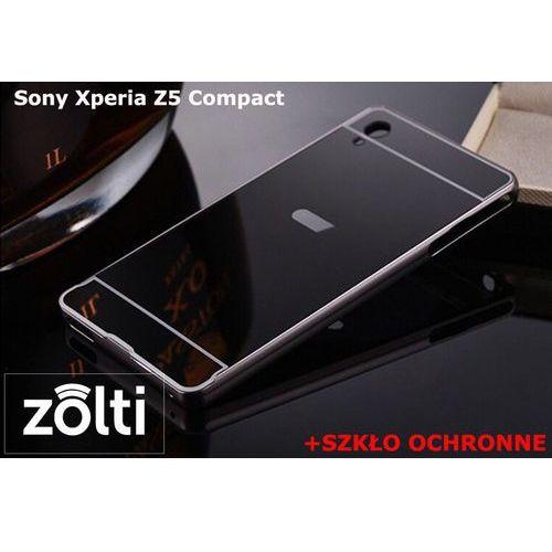 Zestaw   Mirror Bumper Metal Case Czarny + Szkło ochronne Perfect Glass   Etui dla Sony Xperia Z5 Compact, kup u jednego z partnerów