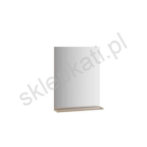 Ravak rosa ii 600 lustro z półeczką 60x78 cm, kolor cappuccino x000000932 (8592626030803)