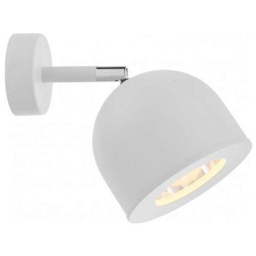 Kaspa Kinkiet lampa ścienna pilar 50801101 regulowana oprawa metalowy reflektorek biały (1000000568349)